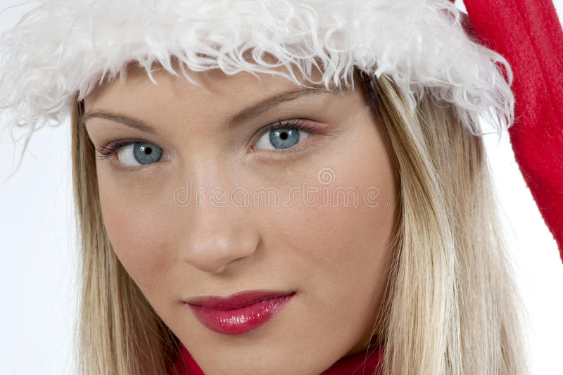 Download Beautiful Santa Claus girl stock photo. Image of happiness - 11915428
