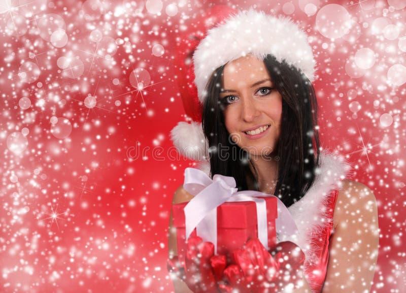 Download Beautiful Santa girl stock photo. Image of babe, model - 22286964