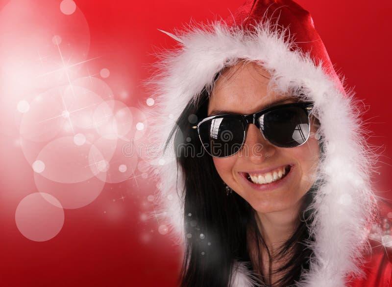 Download Beautiful Santa girl stock image. Image of lady, blur - 22287005