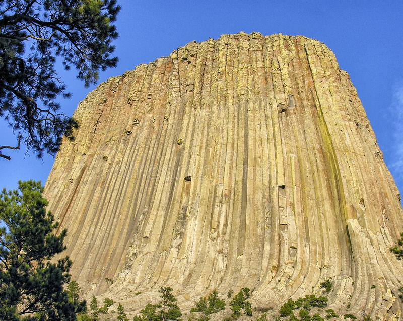 Beautiful scenario of Devils Tower, USA royalty free stock photography