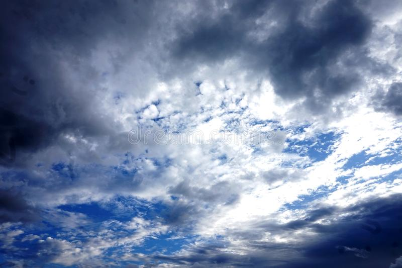 Beautiful scenary of the sky. Beautiful scenary sky blue black white nature simple background texture view sun stock images