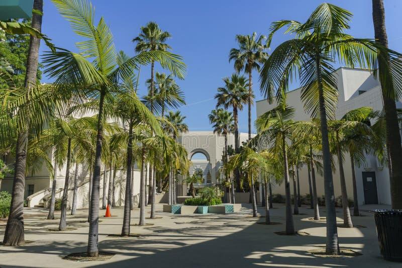 Beautiful scene around Beverly Hills city hall. Los Angeles, California stock photography