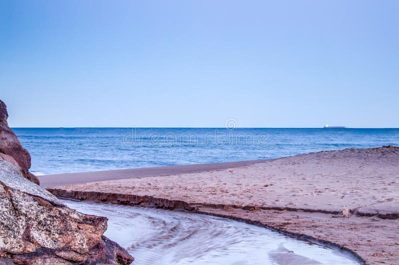 Beautiful scene of a beach with golden sand between Sydney and Wollongong. royalty free stock photo