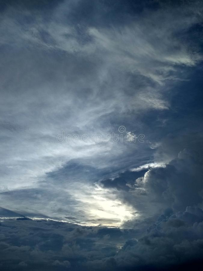 Beautiful Scene Of Clouds In Evenings. Picture, sky royalty free stock images