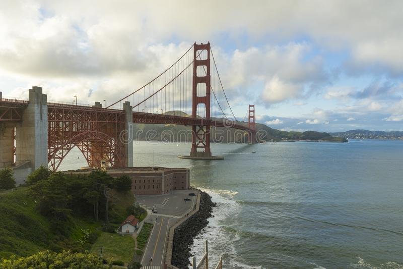 Beautiful scene of Golden Gate bridge in San Francisco, California. royalty free stock photography