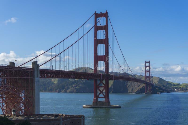 Beautiful scene of Golden Gate bridge in San Francisco, California. stock photos