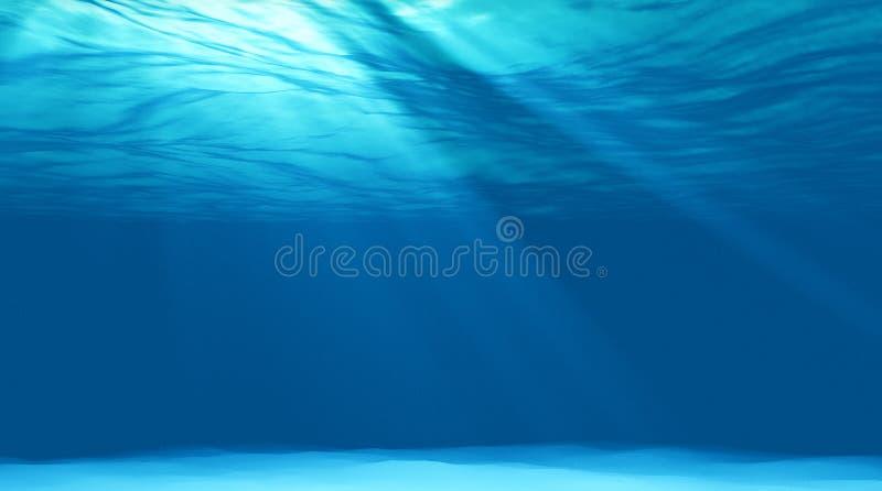 Beautiful scene light underwater royalty free stock photo