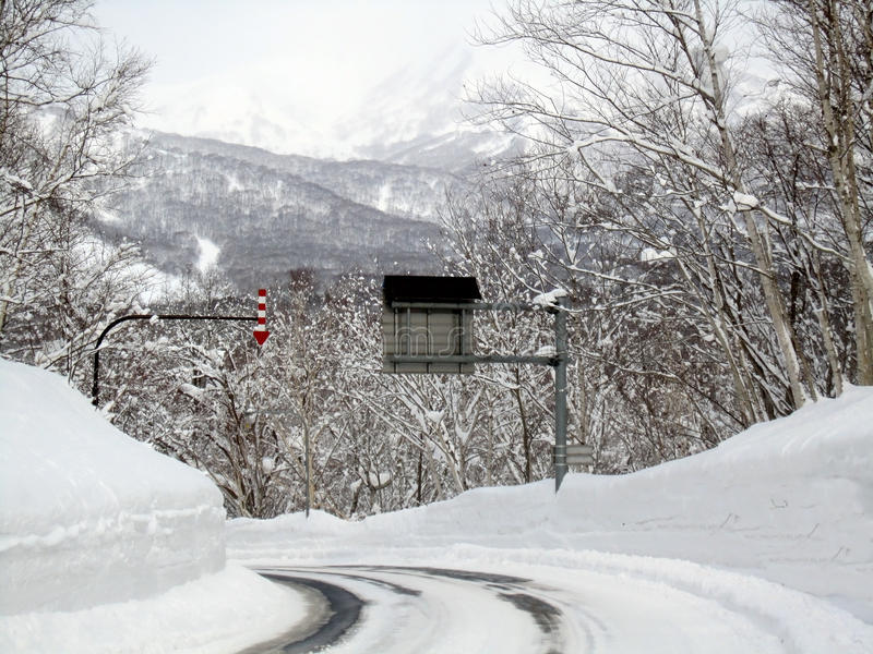 Download Snow, Snowy Mountain Road Stock Photography - Image: 29828202
