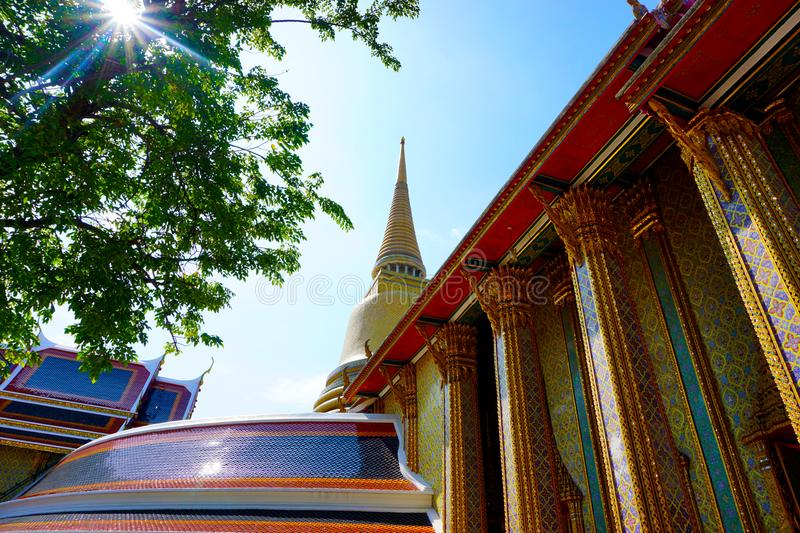 The beautiful scene of temple in Thailand stock images