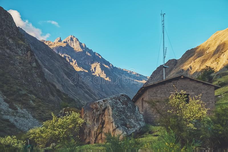 Beautiful scenery along the Inca Trail stock image