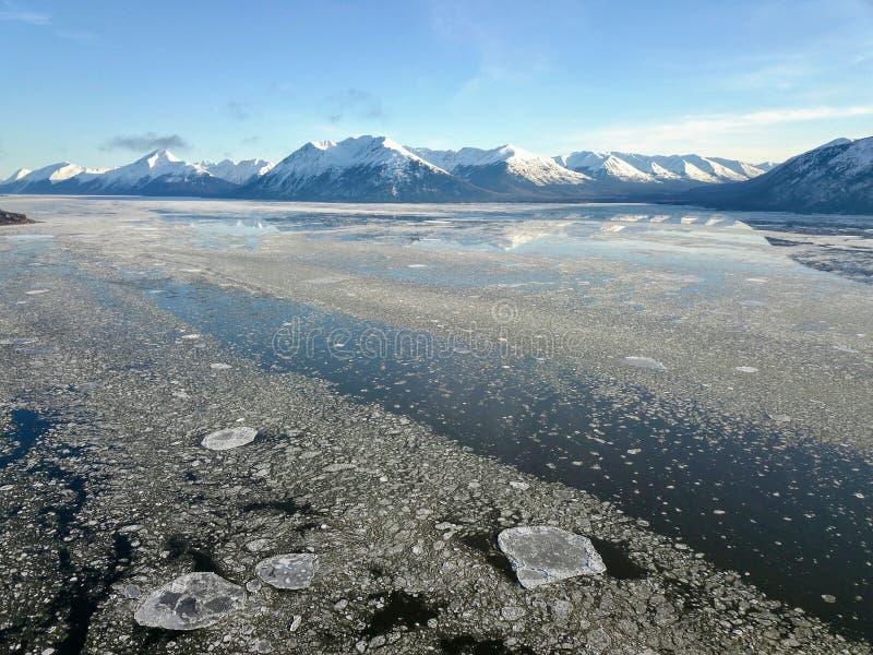 Scenery along the Seward Alaska highway stock image