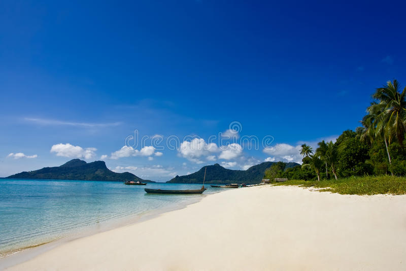 Beautiful scenery at the beach stock photography