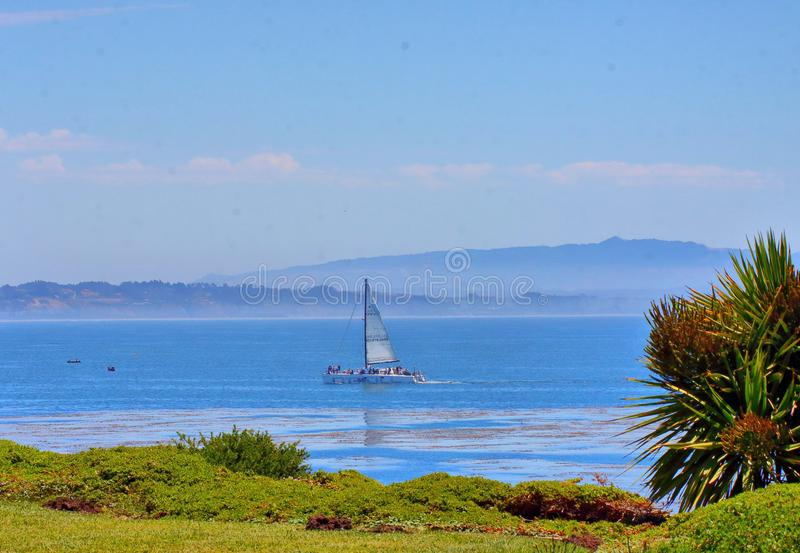 Beautiful scenery at the coast in central california stock photography
