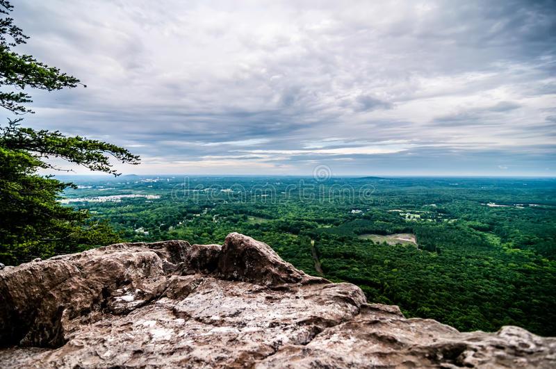 Beautiful scenery from crowders mountain stock image