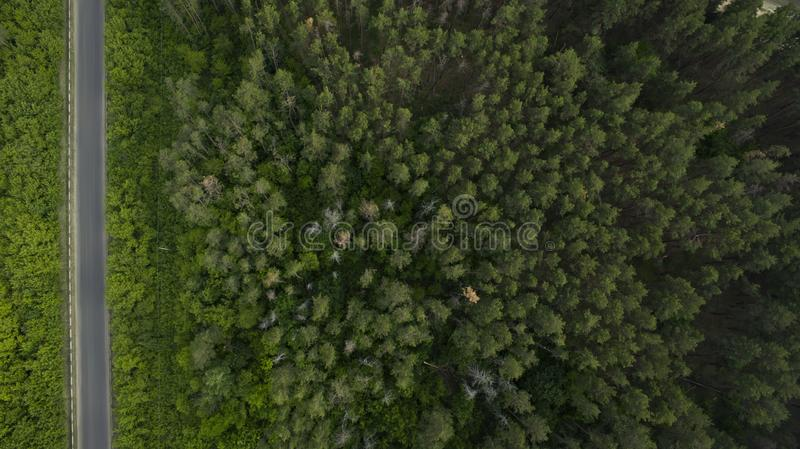 Beautiful scenery with a drone royalty free stock photos
