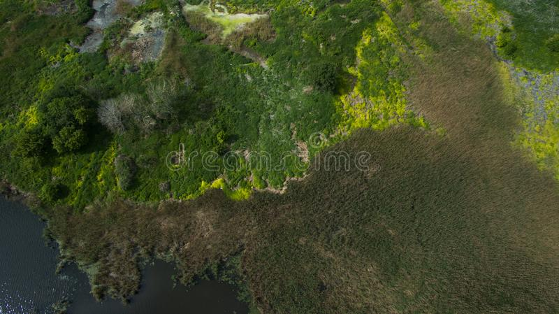 Beautiful scenery with a drone stock image