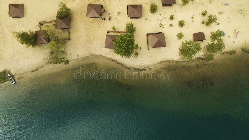 Beautiful scenery with a drone royalty free stock images