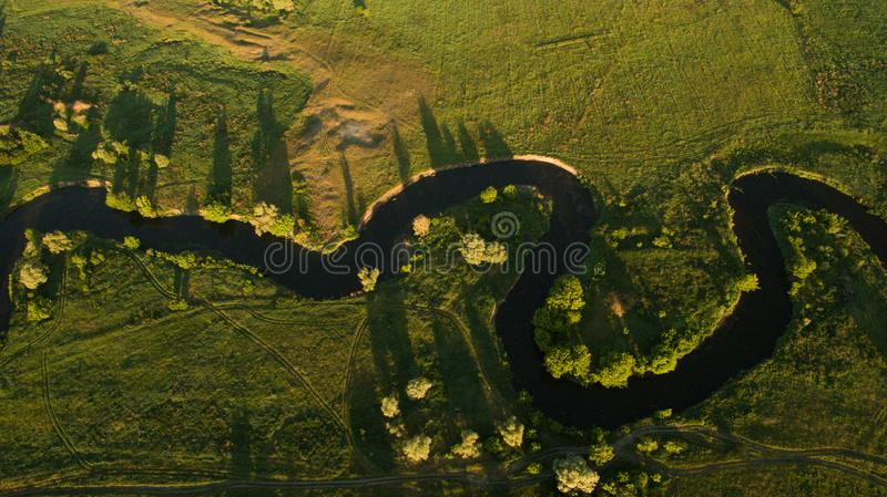Beautiful scenery with a drone stock photos