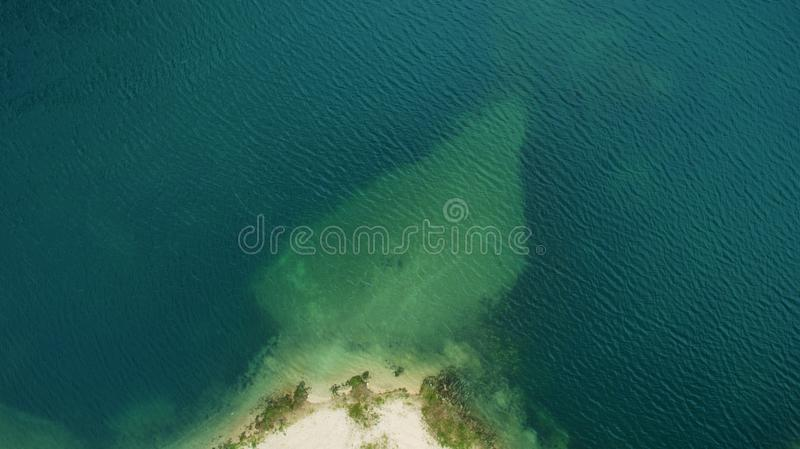 Beautiful scenery with a drone royalty free stock photo
