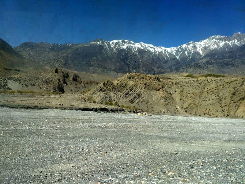Beautiful scenery of Gandaki River Nepal royalty free stock image