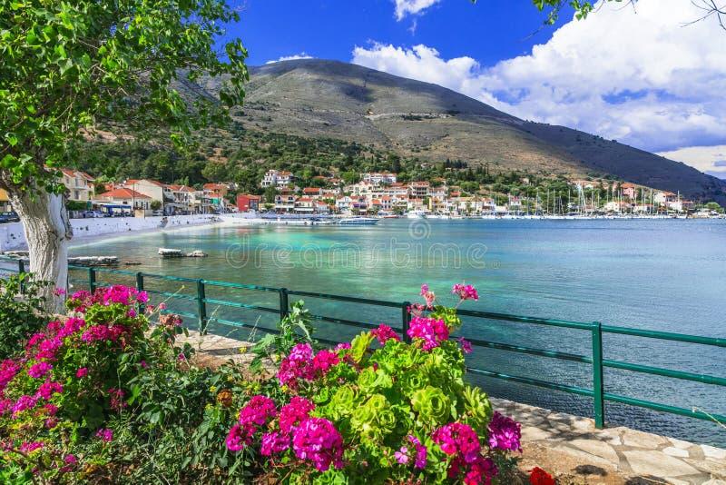 Beautiful scenery of Kefalonia- scenic  Agia Efimia village. Ionian islands of Greece stock photo