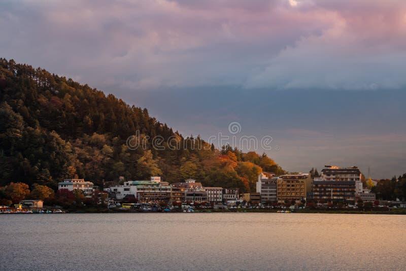 Lake Kawaguchi royalty free stock photography
