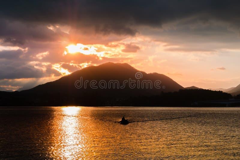 Lake Kawaguchi stock photos