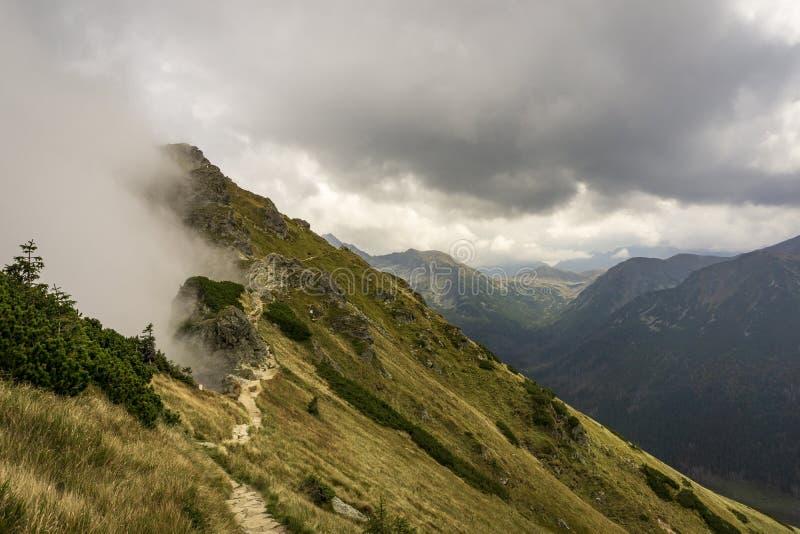 Beautiful scenery of the mountain trail. Tatra Mountains. Beautiful scenery of the mountain trail. Tatra Mountains royalty free stock photo