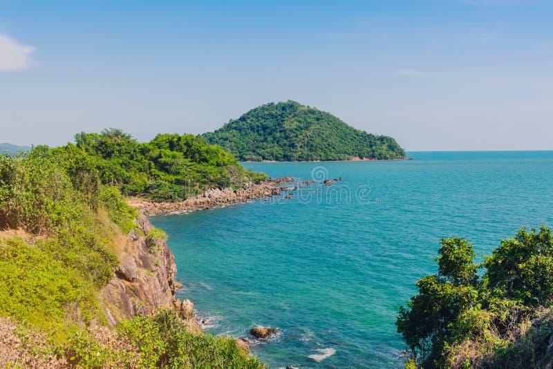 Beautiful scenery at Nang Phaya Hill Scenic Point. In Chanthaburi, Thailand stock image