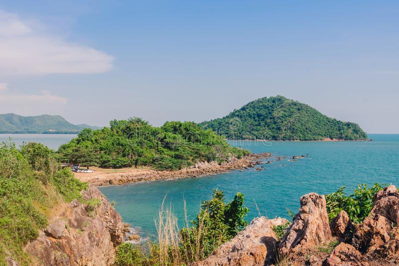 Beautiful scenery at Nang Phaya Hill Scenic Point. In Chanthaburi, Thailand royalty free stock photo