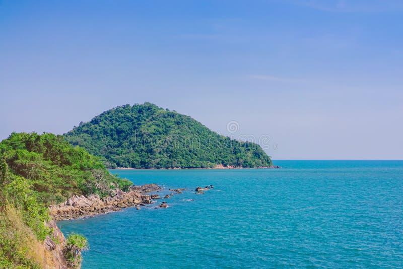 Beautiful scenery at Nang Phaya Hill Scenic Point. In Chanthaburi, Thailand royalty free stock photos