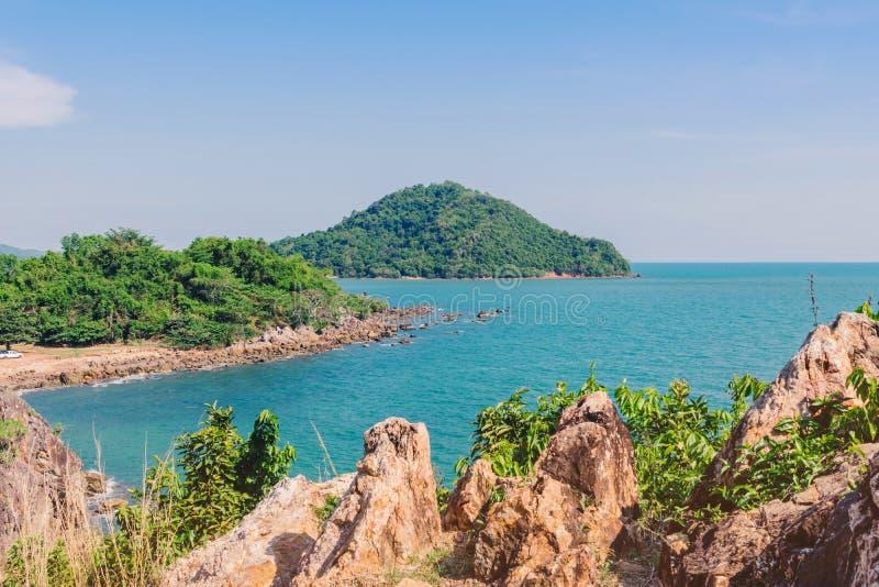 Beautiful scenery at Nang Phaya Hill Scenic Point. In Chanthaburi, Thailand stock photography
