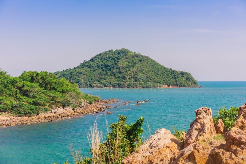 Beautiful scenery at Nang Phaya Hill Scenic Point. In Chanthaburi, Thailand stock images