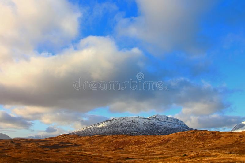 Beautiful scenery of the Scottish Highlands stock photography