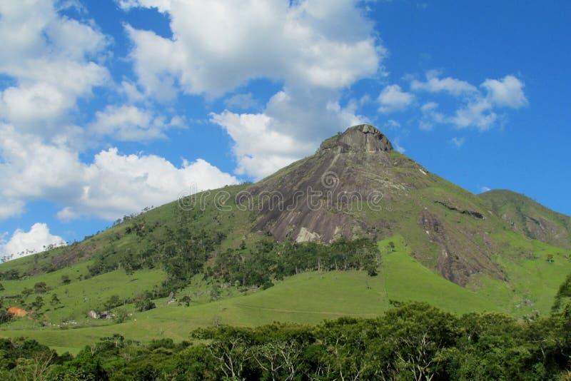 Beautiful scenery of smooth rock, Brazil. Beautiful scenery of smooth rockTres Picos mountain ofSerra dos Orgaos National Park in Nova Friburgo town, Rio de stock photos