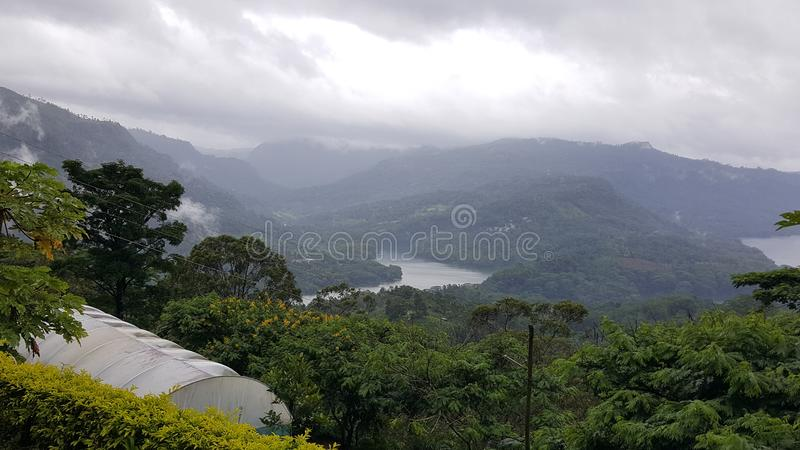 Beautiful scenery from srilankan mountain peak. Scenery, mountains clouds royalty free stock image