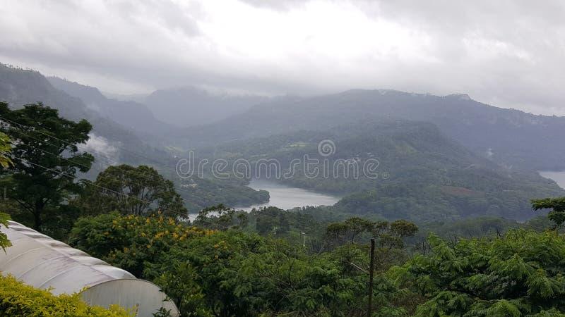 Beautiful scenery from srilankan mountain peak. Scenery, mountains clouds stock photos