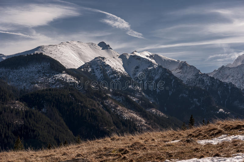 Beautiful scenery of Tatra mountains.  royalty free stock photo