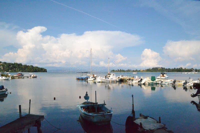 Beautiful scenery to the sea royalty free stock photos