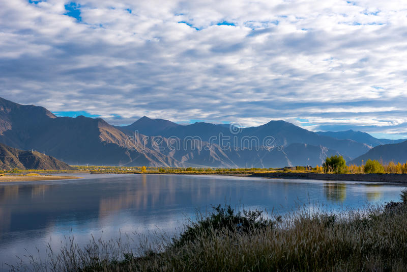 The Beautiful Scenery: Travelling in Tibet royalty free stock photos