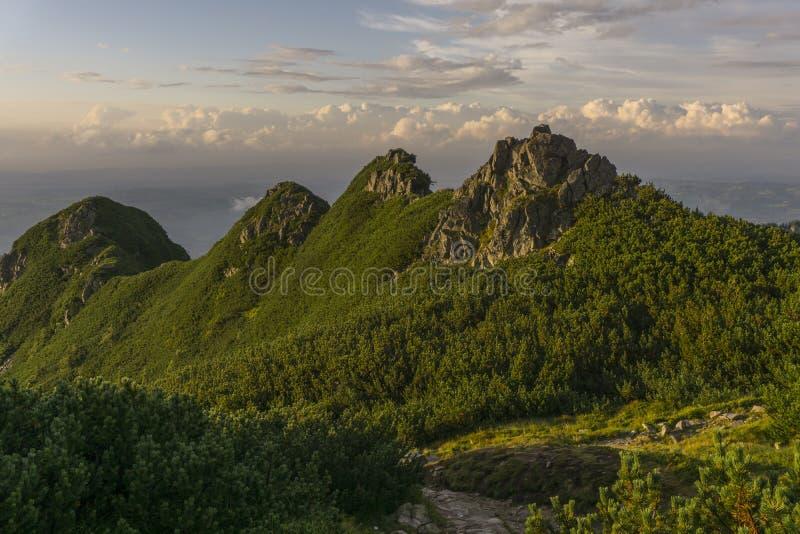 Beautiful scenery of Western Tatra mountains.  royalty free stock photography