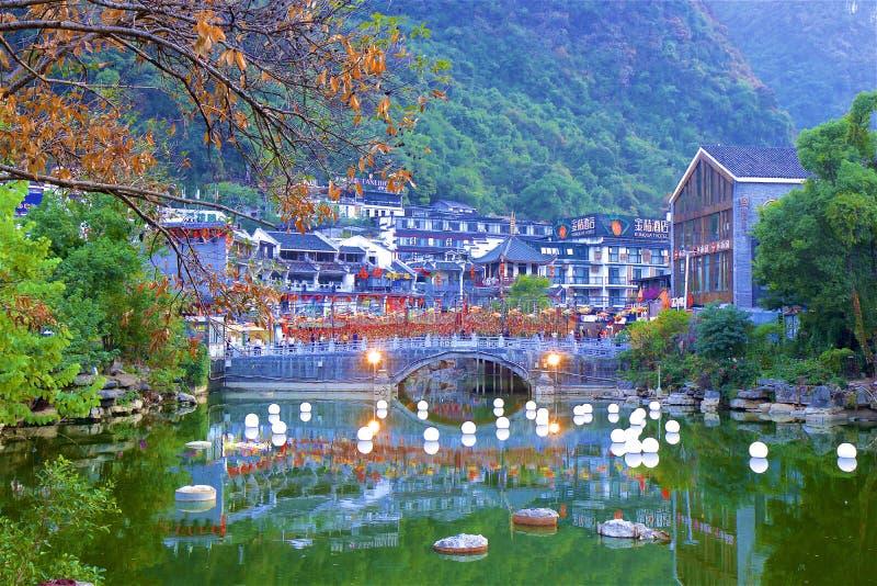 Beautiful scenery  in Yangshuo, China stock photography
