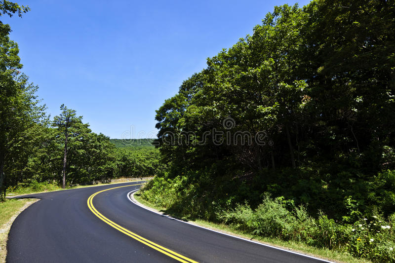 Beautiful scenic country road royalty free stock photography