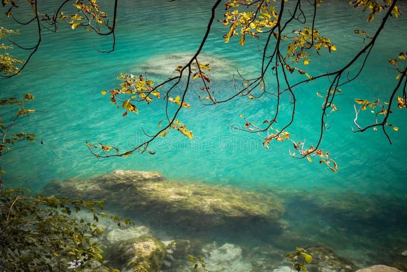 Beautiful scenic landscape view on river soca in slovenia. Beautiful scenic landscape view on river soca stock photo