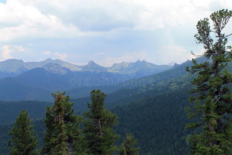 Beautiful scenic mountain landscape royalty free stock photo