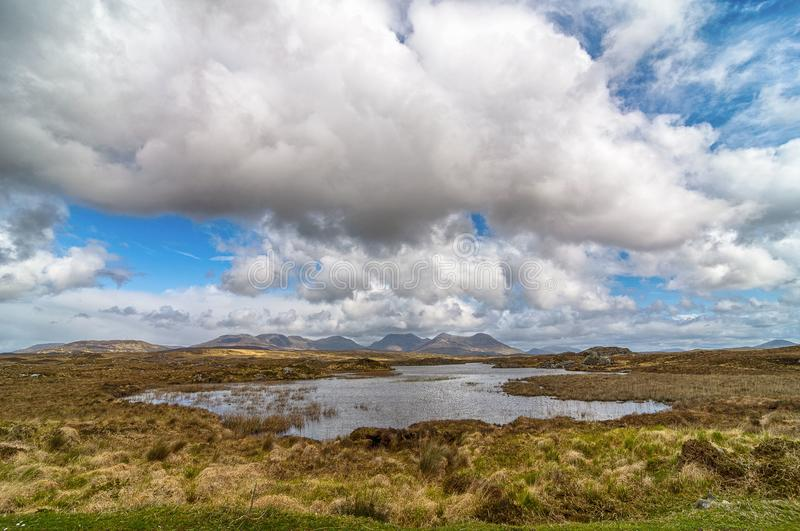 Beautiful scenic rural countryside landscape from connemara royalty free stock photo