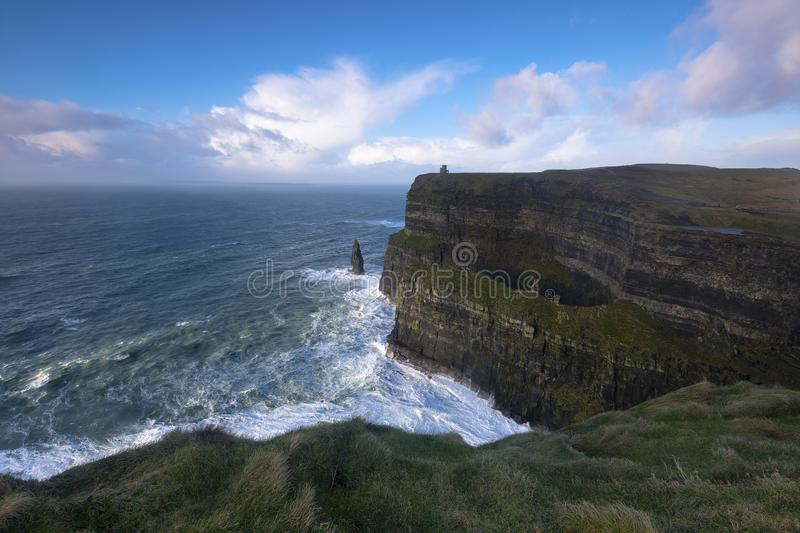 The beautiful scenic scapes of Ireland and Northern Island Castles Night and Sunsets stock images