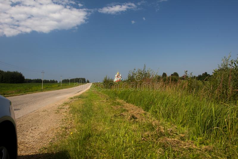 Beautiful scenic views on hot summer days.  stock image