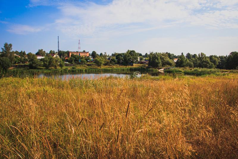 Beautiful scenic views on hot summer days.  royalty free stock image