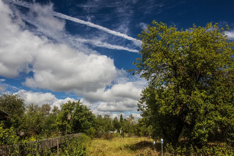 Beautiful scenic views on hot summer days.  royalty free stock photography